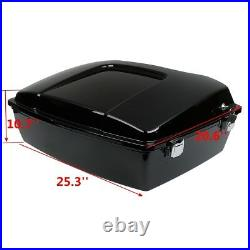 10.7 Chopped Pack Trunk For Harley Tour Pak Touring Electra Road Glide 97-13 12