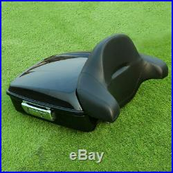 10.7 Chopped Tour Pak Pack Trunk Backrest For Harley Touring Street Glide 14-20