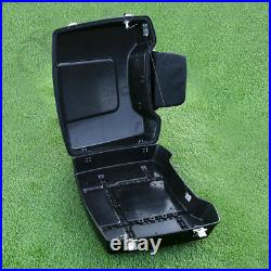 5.5 Razor Trunk with Backrest For Harley Touring Tour Pak Road King Glide 97-13