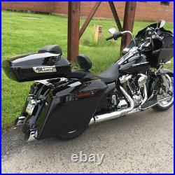 Advanblack Vivid Black Razor Tour Pack Pak Luggage For 97-20 Harley Touring