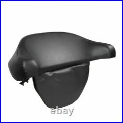 Black Chopped King Backrest Pad Trunk For Harley Touring 1997-2013 Tour Pack Pak