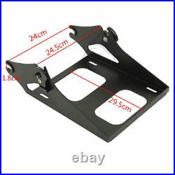 Black Chopped Pack Trunk Backrest Fit For Harley Tour Pak Touring Road King 14+