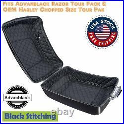 Black Stitch Tour Pak Liner For Advanblack Razor/ Harley OEM Chopped Tour Pack