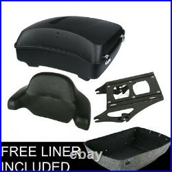 Chopped Matte Black Pack Trunk Rack Fit For Harley Tour Pak Touring Glide 14-20