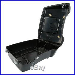 Chopped Pack Trunk Backrest +Rack For Harley Tour Pak Touring Street Glide 09-13