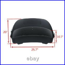 Chopped Pack Trunk Rack Fit For Harley Tour Pak Road King Street Glide 2014-2020