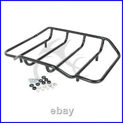 Chopped Pack Trunk Razor Pad & 2-up Rack Fit For Harley Tour Pak touring 14-20