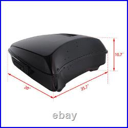 Chopped Pack Trunk With Backrest Pad Rack Fit For Harley Tour Pak Touring 2014-20