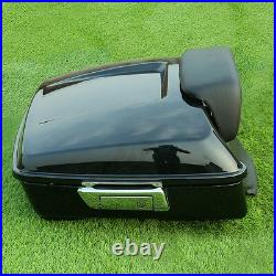Chopped Pack Trunk with Backrest For Harley Tour Pak Touring Street Glide 14-20 19