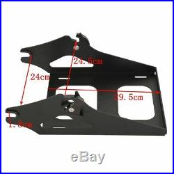 Chopped Tour Pak Pack Trunk Backrest +Rack For Harley Touring Road Glide 14-20