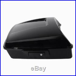 Chopped Tour Pak Pack Trunk Black Latch Backrest For Harley Touring 2014-2020 US