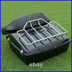 Chopped Tour Pak Pack Trunk Fit For Harley Touring Road King Electra Glide 97-08