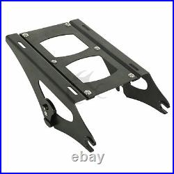 Chopped Trunk Backrest Pad Mount Rack Fit For Harley Tour Pak Touring 14-20 US