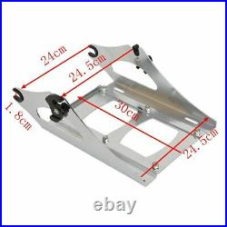 Chopped Trunk Backrest Two-Up Mount Rack Fit For Harley Tour Pak Touring 14-21