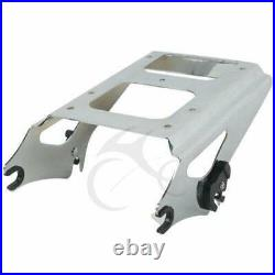 Chopped Trunk Pack Backrest Top Rack Mount For Harley Tour Pak Touring 2009-2013