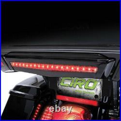 Ciro 40005 Gloss Black Tour-Pak Center LED Brake Light for Harley Touring 14-19