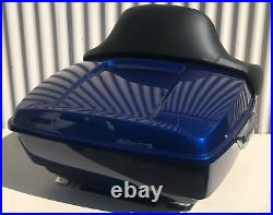 Deep Cobalt Blue 97-20 Harley Street Road Glide King Tour Pak Luggage Trunk Pack