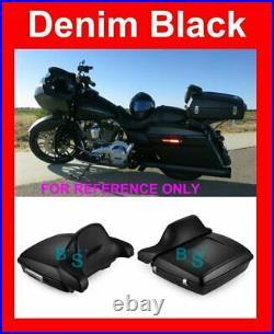 Denim Black Razor Tour Pak Backrest Fit Harley Street Electra Road Glide 2014+