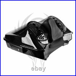 Dual 8 Speaker Lid with Razor Tour Pak for 2014-2021 Harley Touring 2019 18 17 20