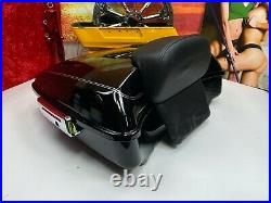 Genuine 95-20 Harley Ultra Touring Tour CHOP Pack Pak Backrest Black OEM
