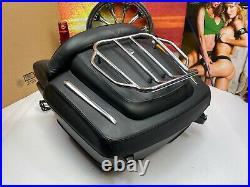 Genuine 97-20 Harley CVO Touring Premium Leather Tour Pack Pak Luggage Rack