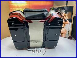 Genuine CVO Harley Tour Pack Pak Backrest Autumn Haze/Vivid Black OEM