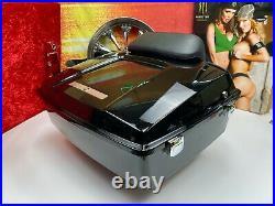Genuine Harley Chopped Tour Pack Pak Backrest Black OEM