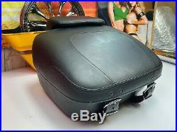 Genuine Harley Touring Premium Leather Tour Pack Pak Luggage OEM