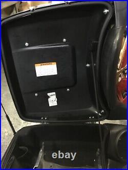 Harley Davidson Tour Pak Electra Glide 2014-20 Vivid Black with Silver Pinstripes