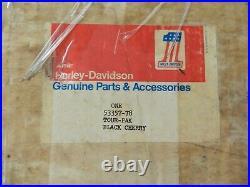 Harley Shovelhead Vintage Oem Nos Tour-pak Black Cherry 53357-78 Tour Pack Rare