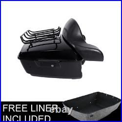 King Pack Trunk Backrest LED Tail Light Fit For Harley Tour Pak Touring 14-20 US