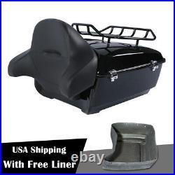 King Pack Trunk Luggage Rack Backrest For Harley Tour Pak Road King 2014-2019 18