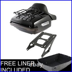 King Pack Trunk Pad Mount Tail Light Fit For Harley Tour Pak Road Glide 14-21 US