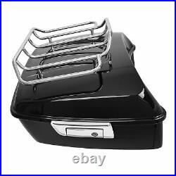 King Pack Trunk + Top Rack Fit For Harley Tour Pak Touring Road King 2014-2021