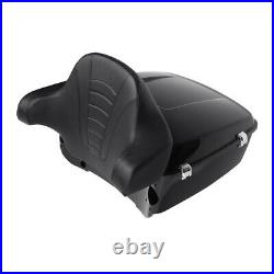 King Pack Trunk with Backrest Pad Fit For Harley Tour Pak Touring Road Glide 14-Up