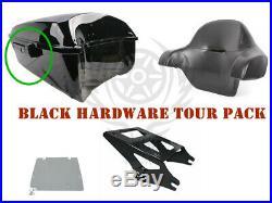 King Tour Pak Pack Trunk +Rack Backrest For Harley Street Road Glide 2014-2019