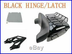 King Tour Pak Pack Trunk black For Harley Touring Street Road Glide 14-20