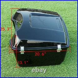 King Trunk Backrest Luggage Rack Mount For Harley Davidson Tour Pak Pack 1997-08