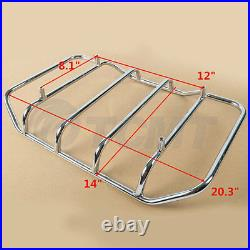 King Trunk For Harley Touring Tour Pak Pack Road King FLHR 1997-2008 2007 2006