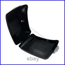 Matt Black 5.5 Razor Trunk + Backrest For Harley Touring Tour Pak Pack 14-20 17