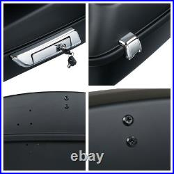 Matte Black Chopped Pack Trunk Rack Fit For Harley Tour Pak Road Glide 09-13 11