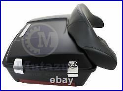 Matte Denim Black Premium Hardware Chopped Tour Pak for Harley Davidson Touring