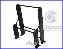 Mutazu Tour Pak Storage Organization Wall Mount Rack for Harley Detachables