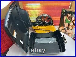 OEM Harley 95-20 Touring Ultra Tour Pack Pak Backrest Denim Black