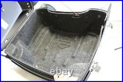 OEM Harley 95-20 Touring Ultra Tour Pack Pak Backrest & Rack Vivid Black Speaker