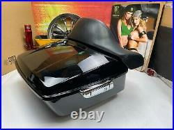 OEM Harley 95-20 Touring Ultra Tour Pack Pak Backrest Vivid Black