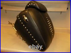OEM Harley-Davidson Black Leather Tour Pak Studded Pack FLSTC SOFTAIL