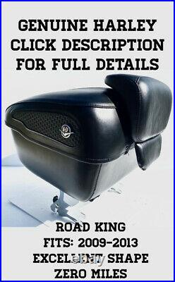 OEM Harley Davidson Black Leather Tour Pak Touring Pack FLHRC Road King 2012