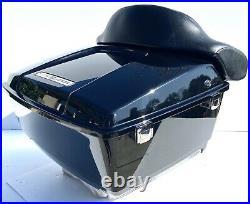 OEM Harley Davidson Road King Vivid Black Tour Pak Touring Pack 2012 Trunk FLHRC