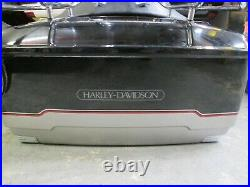 OEM Harley Davidson Tour Pak Pack Luggage Box 2009-2013 Vivid Black & Silver